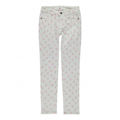 Lana pink flamingoes jeans White Labdip