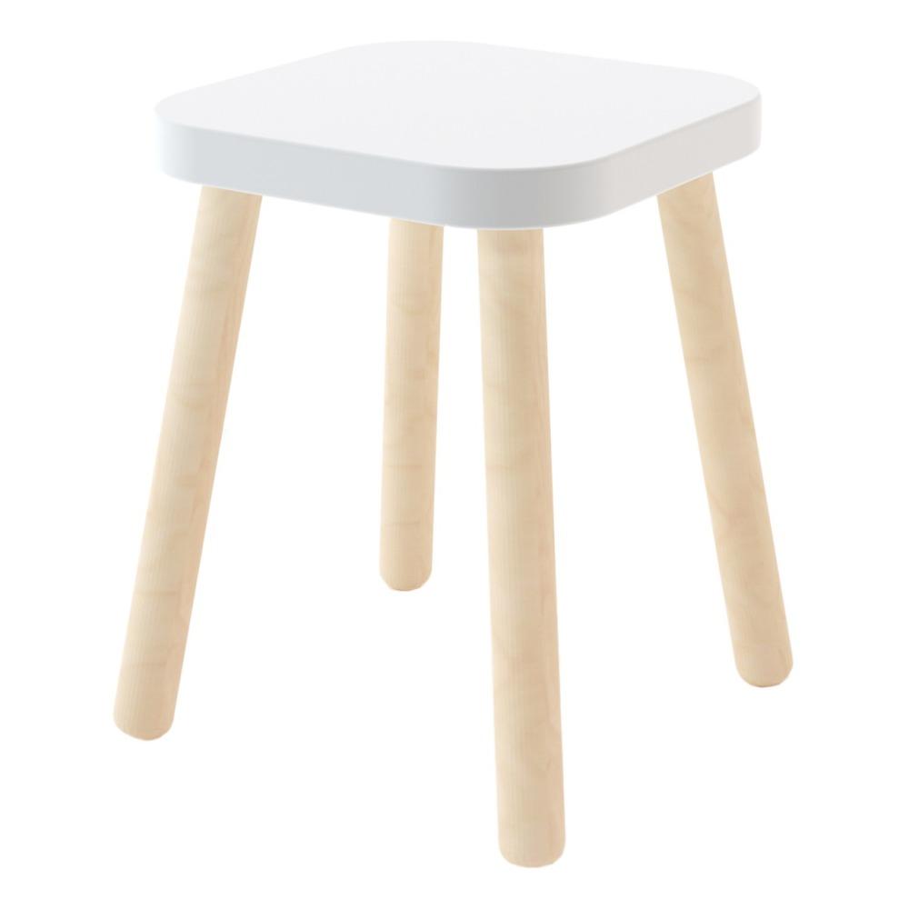 tabouret carre hauteur reglable blanc oeuf nyc design enfant