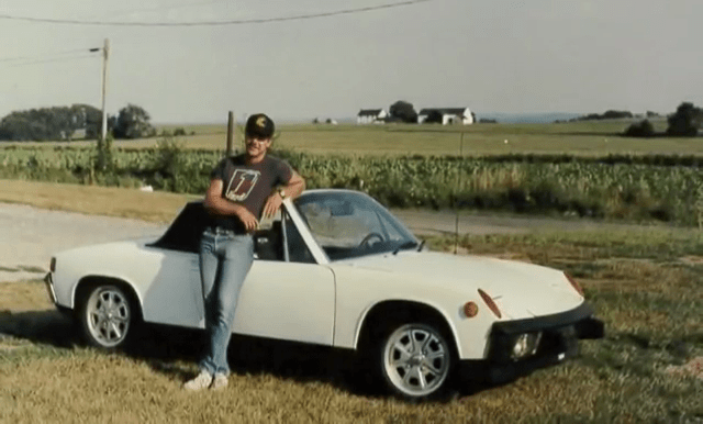 Dave and his cherished 1973 Porsche 914 2.0L. Image via YouTube