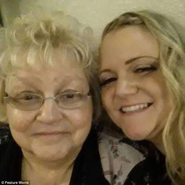 Kelly Lewis, 34, with her mother Joy. She was horrified when she watched the footage from the care home back with her sisters