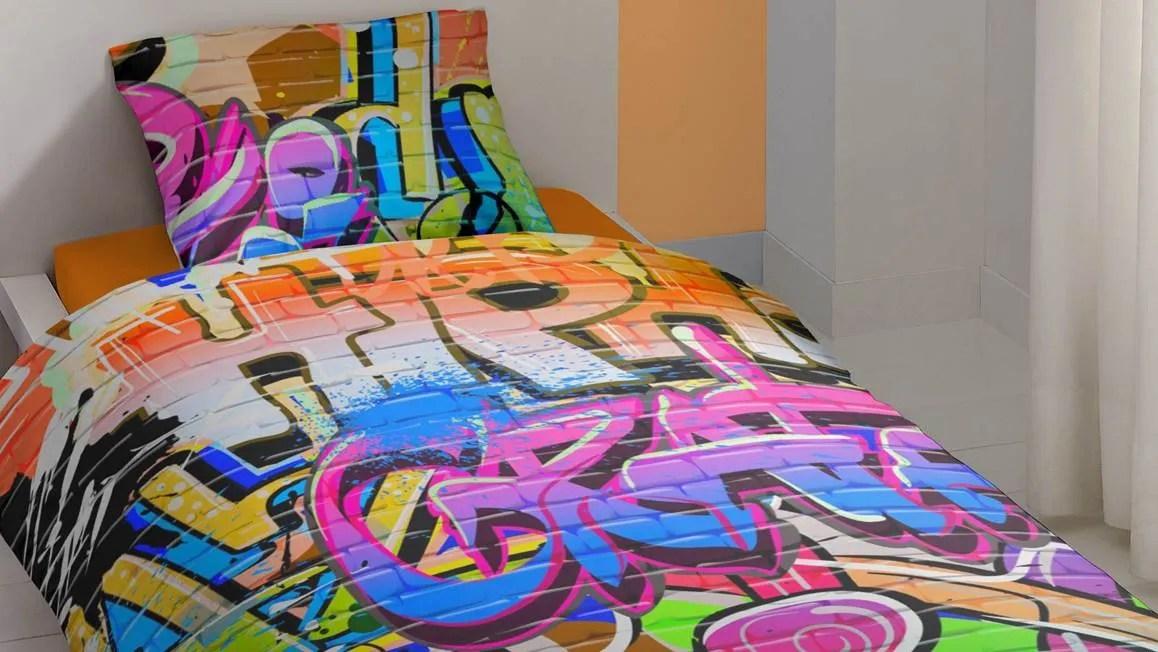 housse de couette graffiti