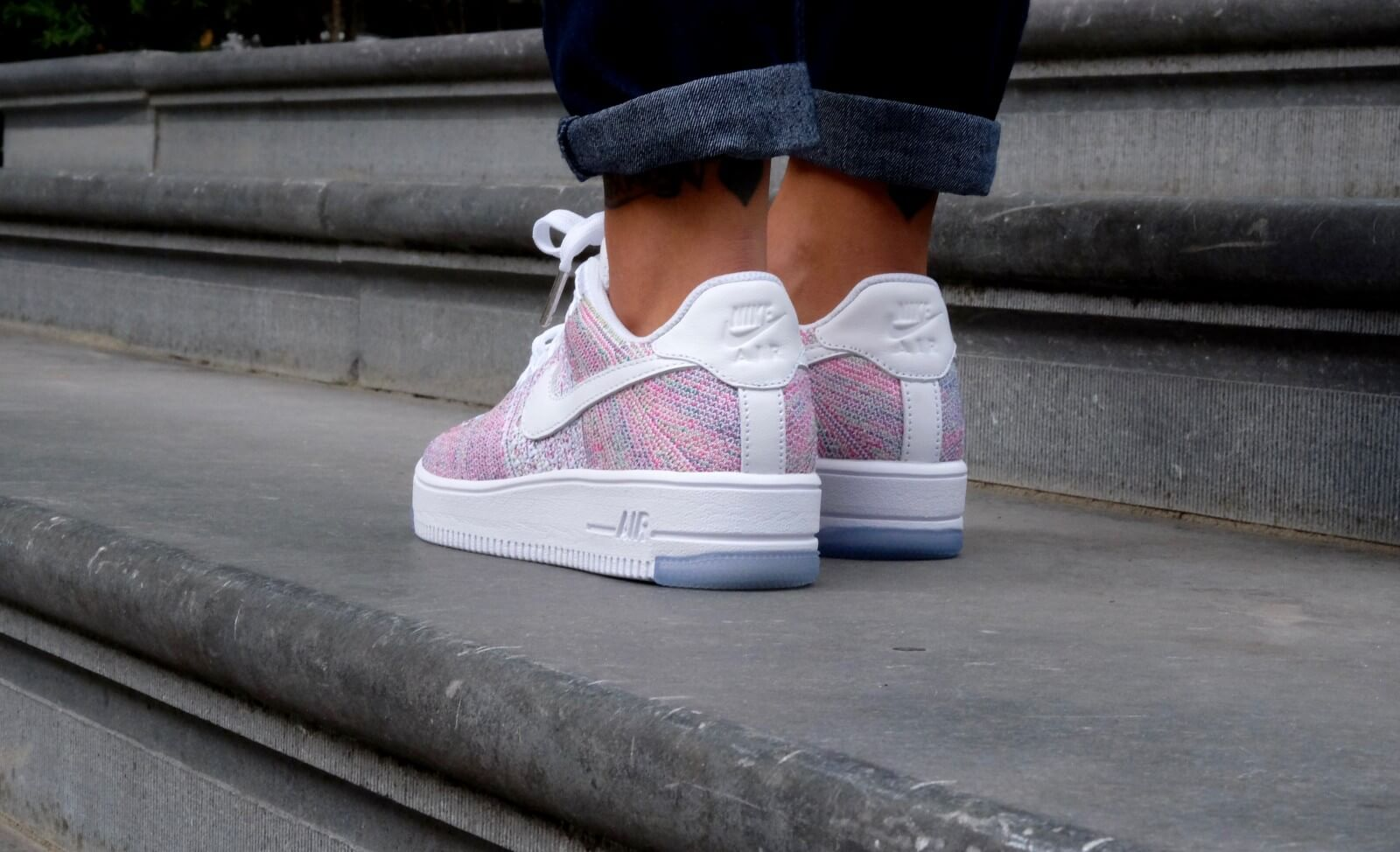 Nike Air Force 1 Flyknit Low Whitewhite Radiant Emerald