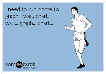 Funny Somewhat Topical Ecard: I need to run home to graph... wait, chart, wait... graph... chart...