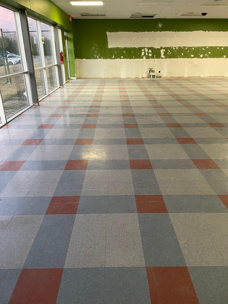 concrete floor polishing smooth low
