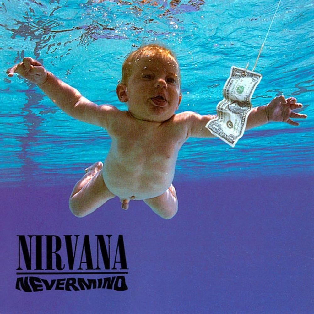 The cover of Nirvana's 'Nevermind'.