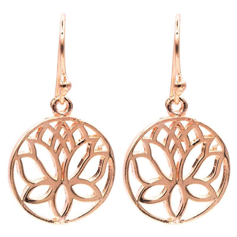 Lotus oorbellen voor de boho-bruid