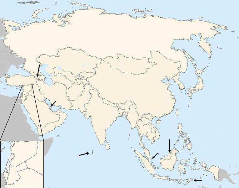 Map Of Asia No Names.South Asia Map No Names