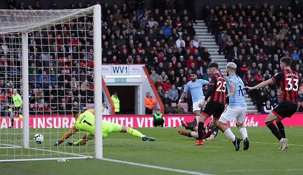 Mahrez's low drilled effort squeezed beyond Boruc and gifted the defending champions all three points