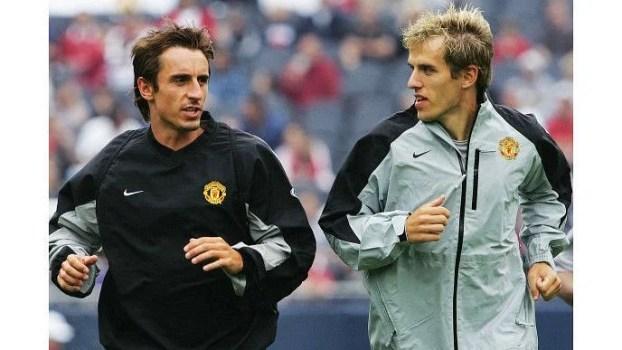 Gary and Phil enjoyed a successful era at Old Trafford.