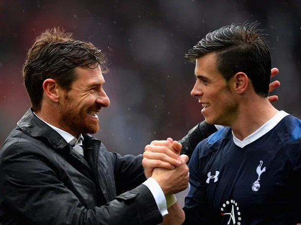 Spurs manager Andre Villas-Boas and Bale share a great bond. (Getty Images)
