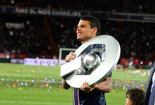 Thiago Silva played a massive part in PSG's league triumph