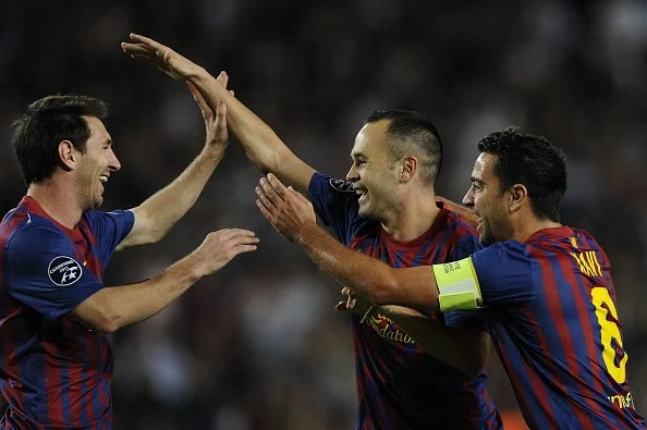 Lionel Messi, Andres Iniesta, and Xavi - from Barcelona famed youth academy Las Maisa
