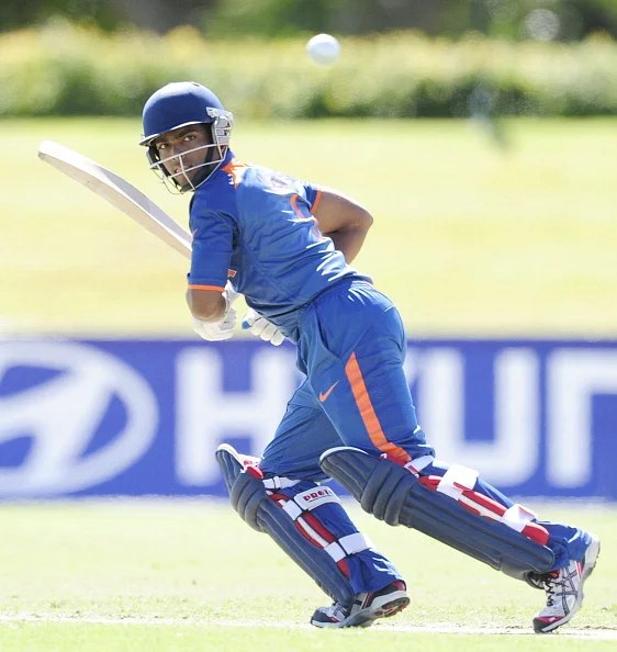 Vijay Zol of India bats during the ICC U19 Cricket World Cup 2012 match between the West Indies and India at Tony Ireland Stadium on August 12, 2012 in Townsville, Australia.  (Getty Images)