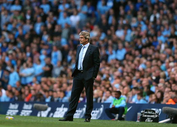 Manuel Pellegrini the manager of Manchester City looks on during the Barclays Premier League match between Manchester City and Newcastle United at the Etihad Stadium on August 19, 2013 in Manchester, England. (Getty Images)