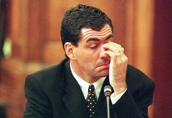 Hansie Cronje during his cross-examination at the King Commission of Inquiry into allegations of cricket match-fixing