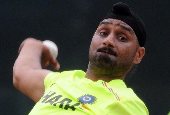 Harbhajan Singh at practice