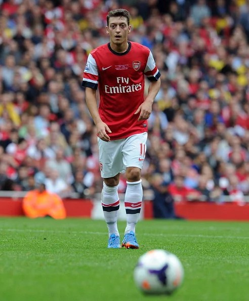 Mesut Oezil of Arsenal during the Barclays Premier League match between Arsenal and Stoke City at Emirates Stadium