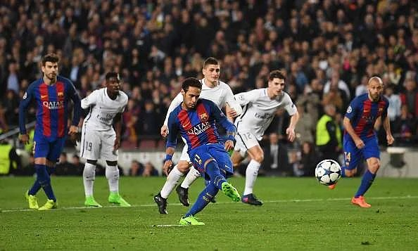 Image result for barcelona vs psg 2017 neymar