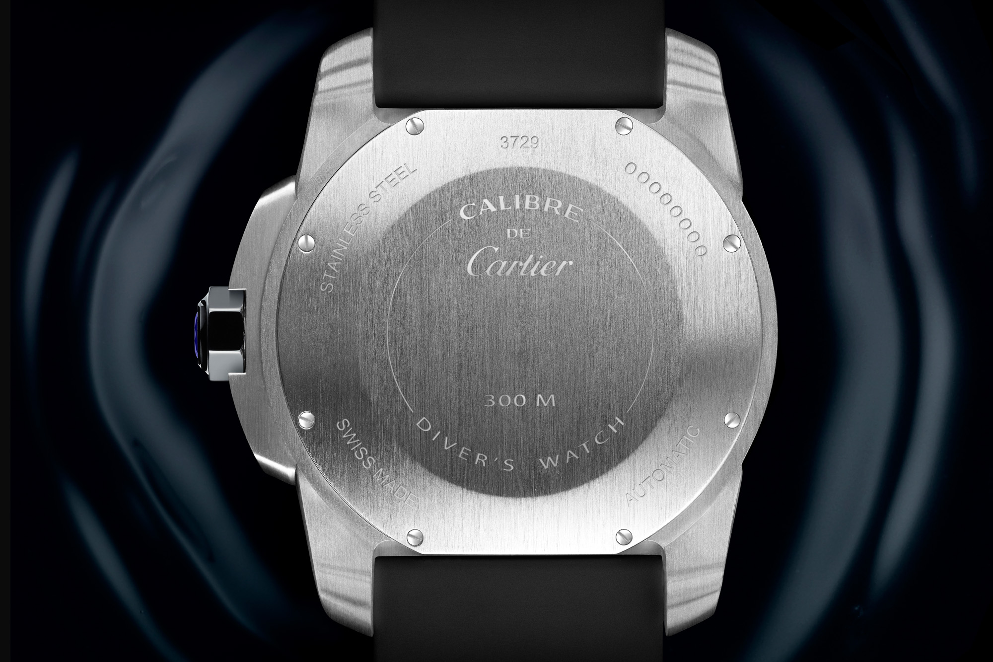 Back Of The Calibre De Cartier Diver