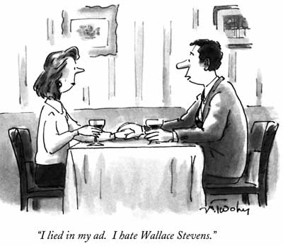1995 New Yorker cartoon by Mike Twohy that references Wallace Stevens