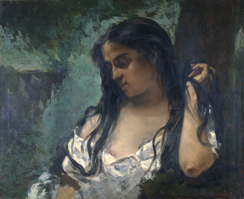 Gypsy in Reflection - Courbet
