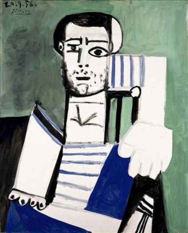 Man with the Striped Shirt - Picasso