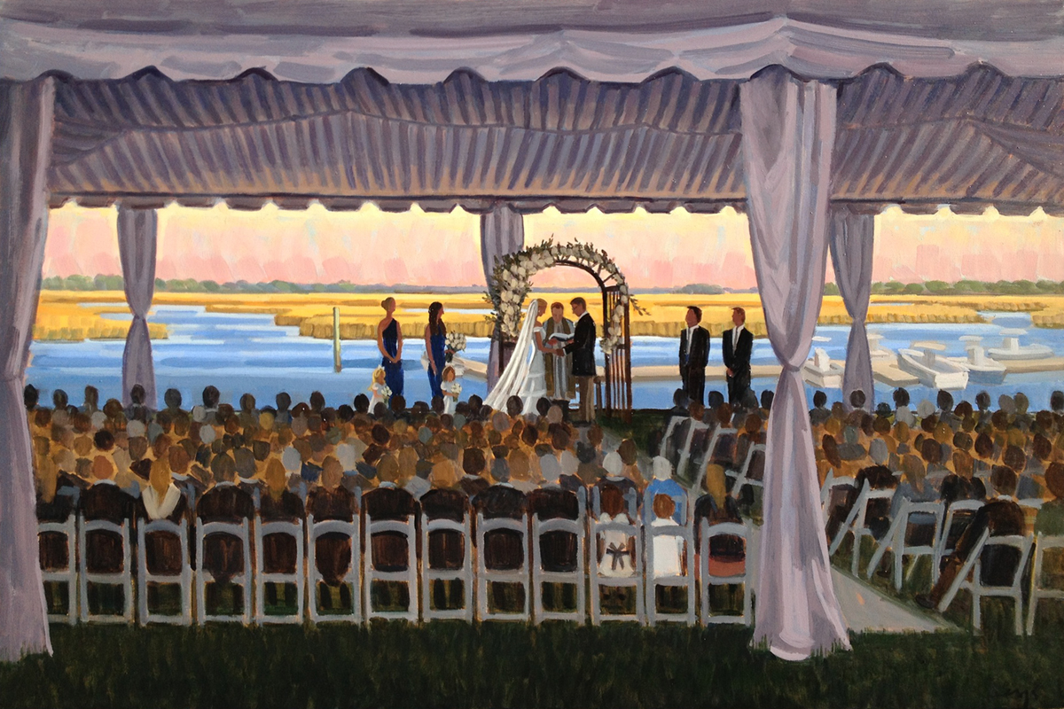 Figure 8 Island Yacht Club Live Wedding Painting