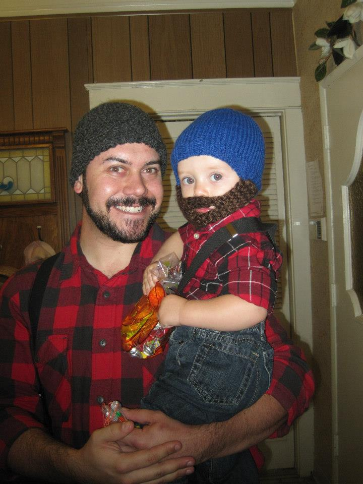 Father and Son lumberjacks!
