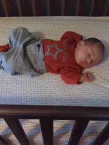 The rock star asleep