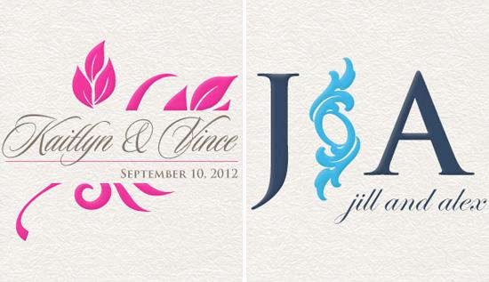 Event Logo House custom wedding monograms and logos