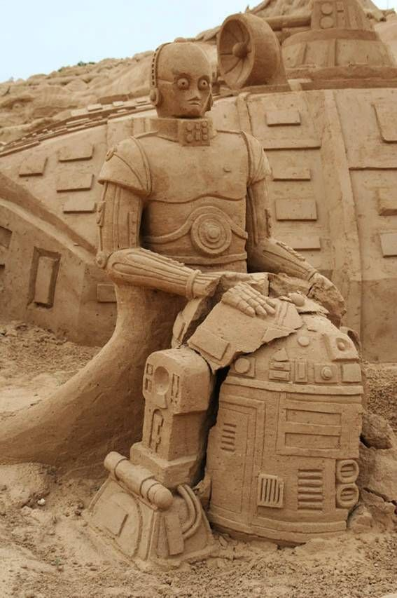 Check Out This Cool Star Wars Sand Art Featuring C3p0 And