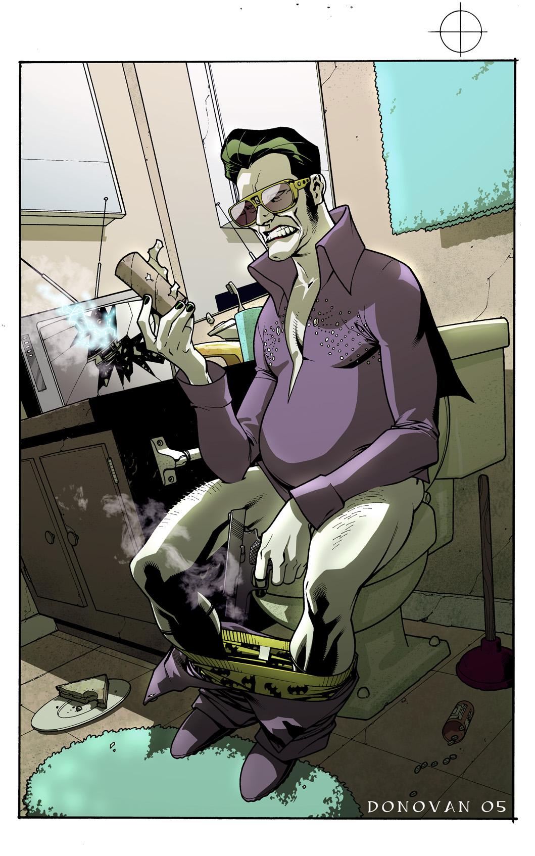 Geek Art Long Live The King Joker Elvis Impersonator