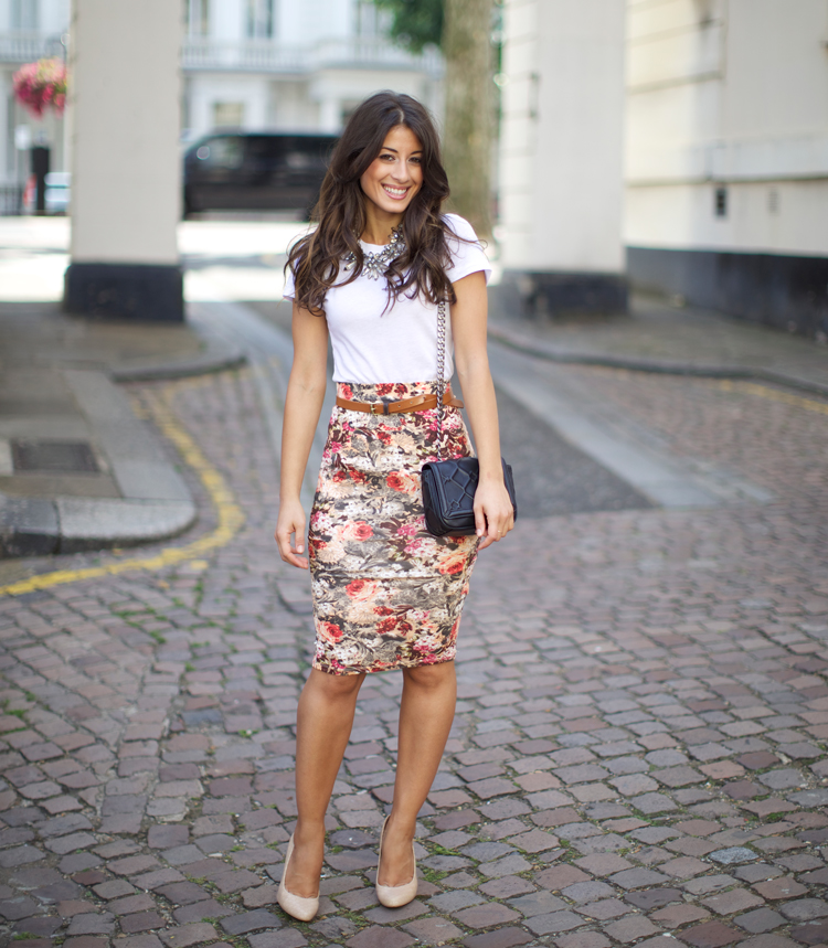 The Floral Skirt Mimi Ikonn