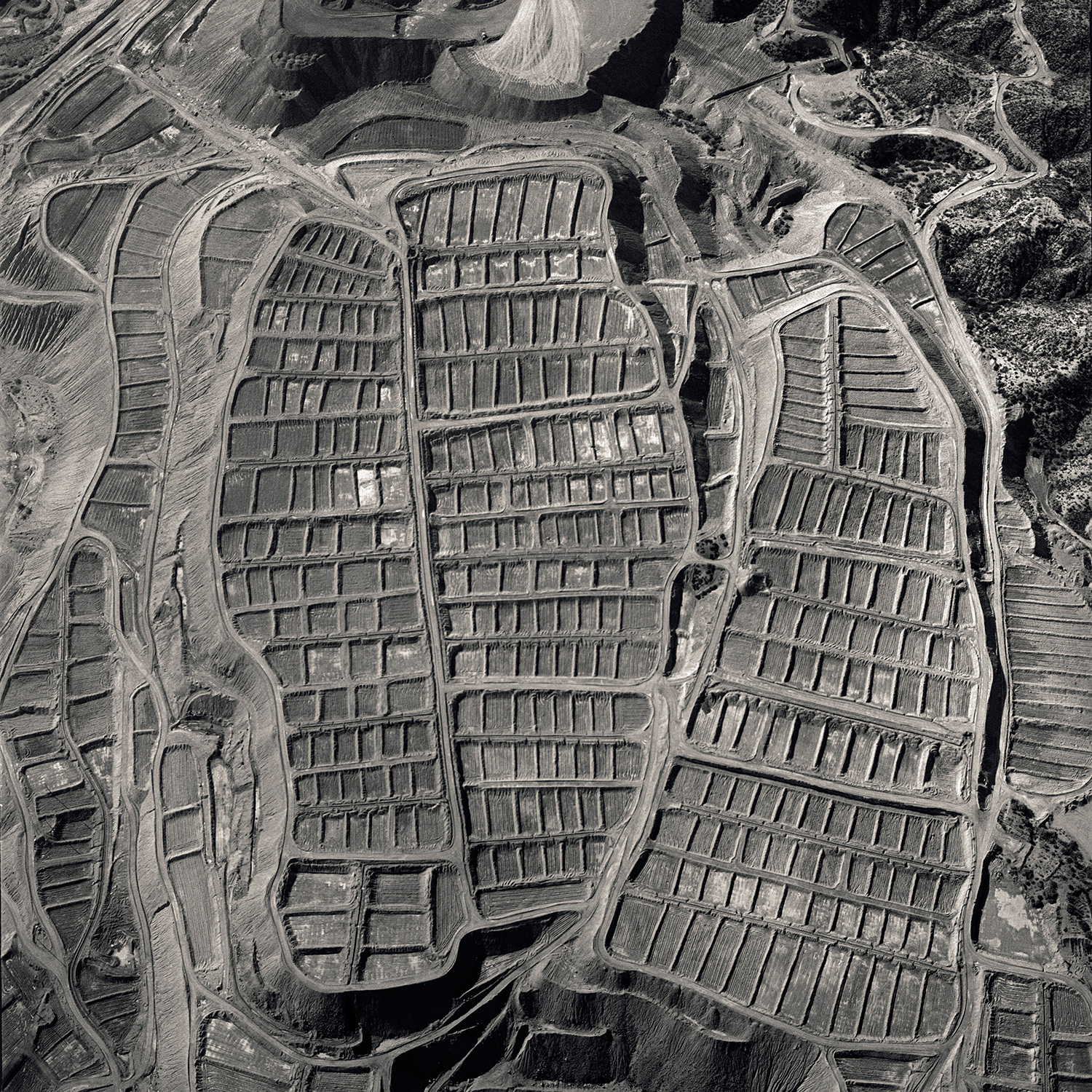David Maisel, Black Maps (Ray, Arizona 1), 1985.