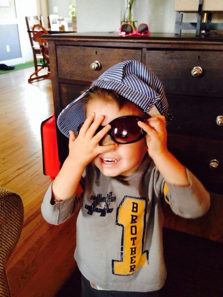 oliver in sunglasses