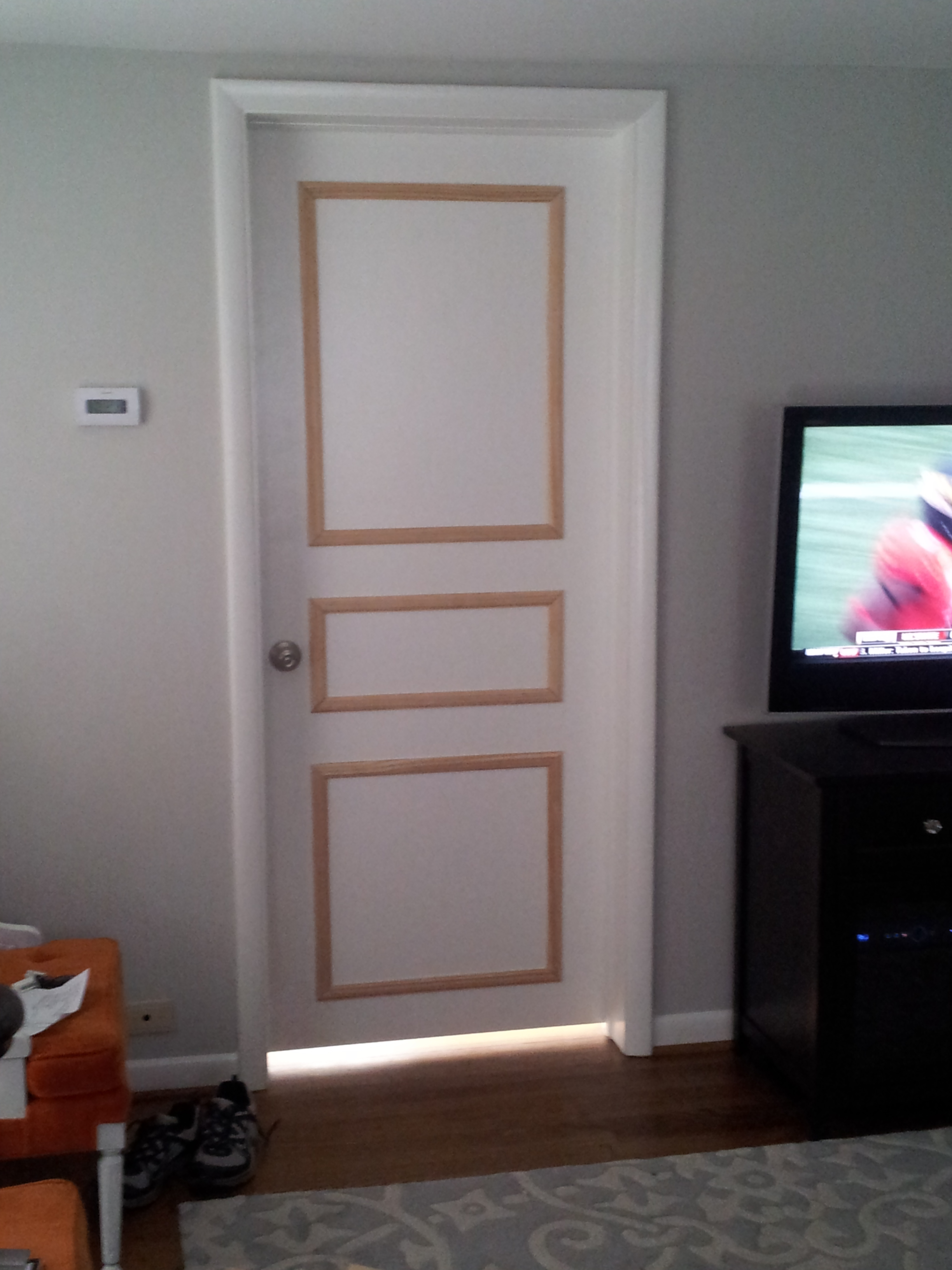 Diy Door Trim For Plain Doors Brooklyn House Elizabeth