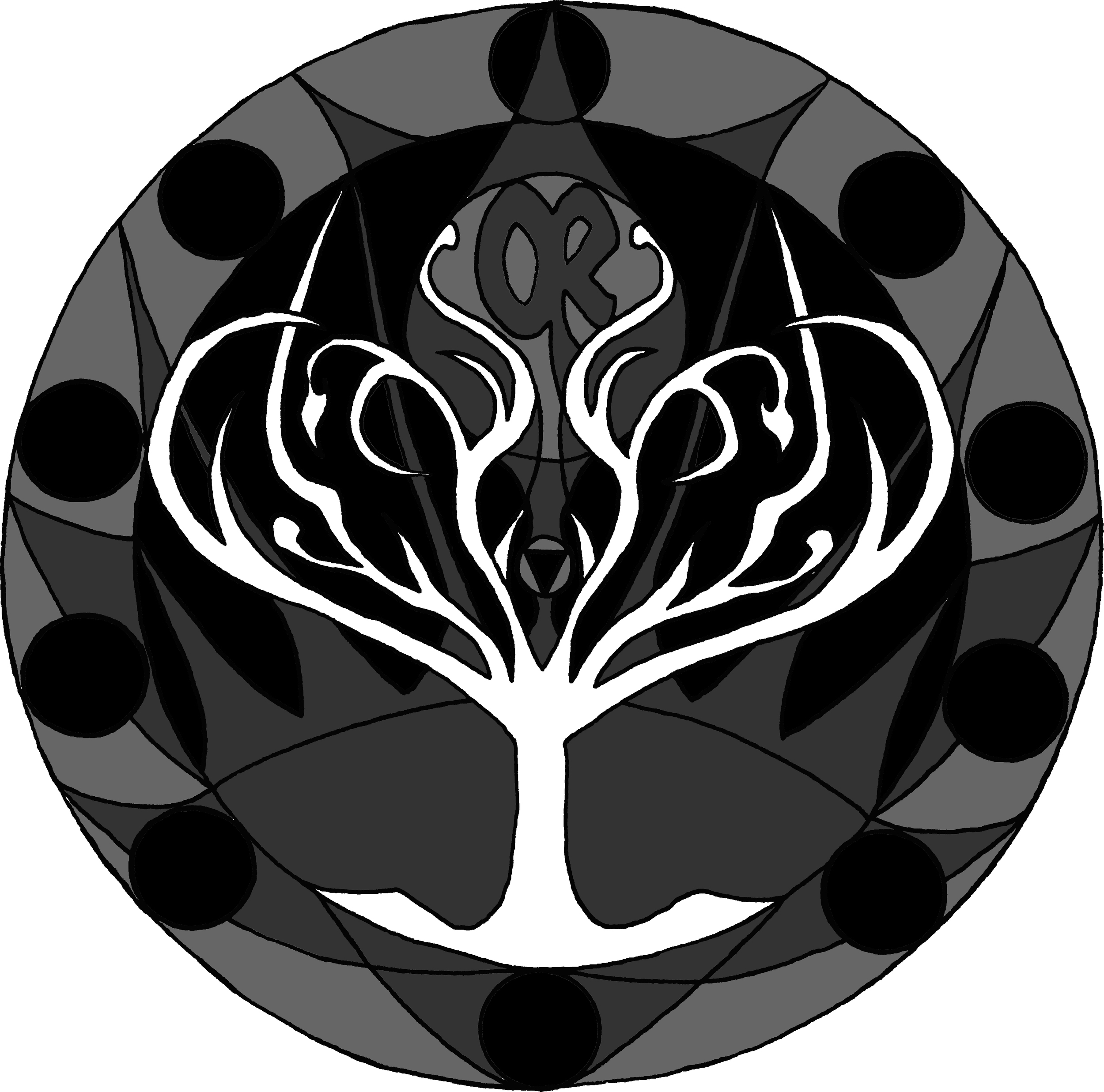 GRAYSCALE COLORIZATION OF ORACLE REPORT LOGO-MANDALA BY WISE OWL SZABI