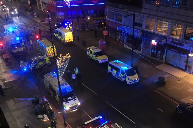 Three rushed to hospital minutes into New Year after London stabbings