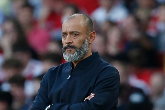 <p>Nuno Espirito Santo is under pressure following Tottenham's third successive defeat against Arsenal </p>