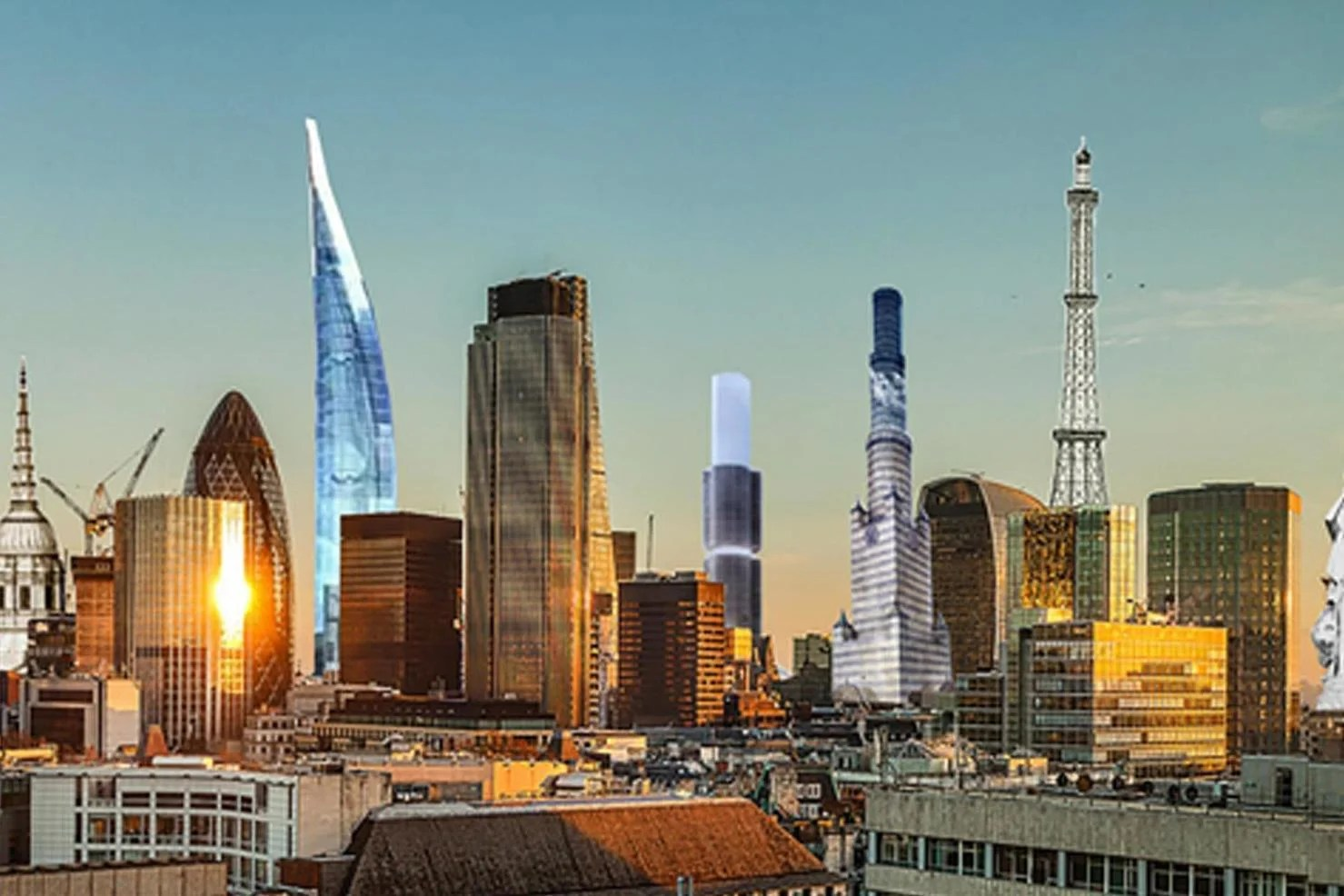 Revealed How London S Skyline Would Have Looked With