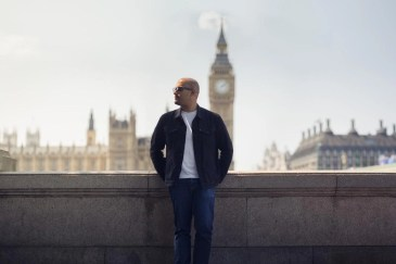 His favourite view: Tareq in Westminster