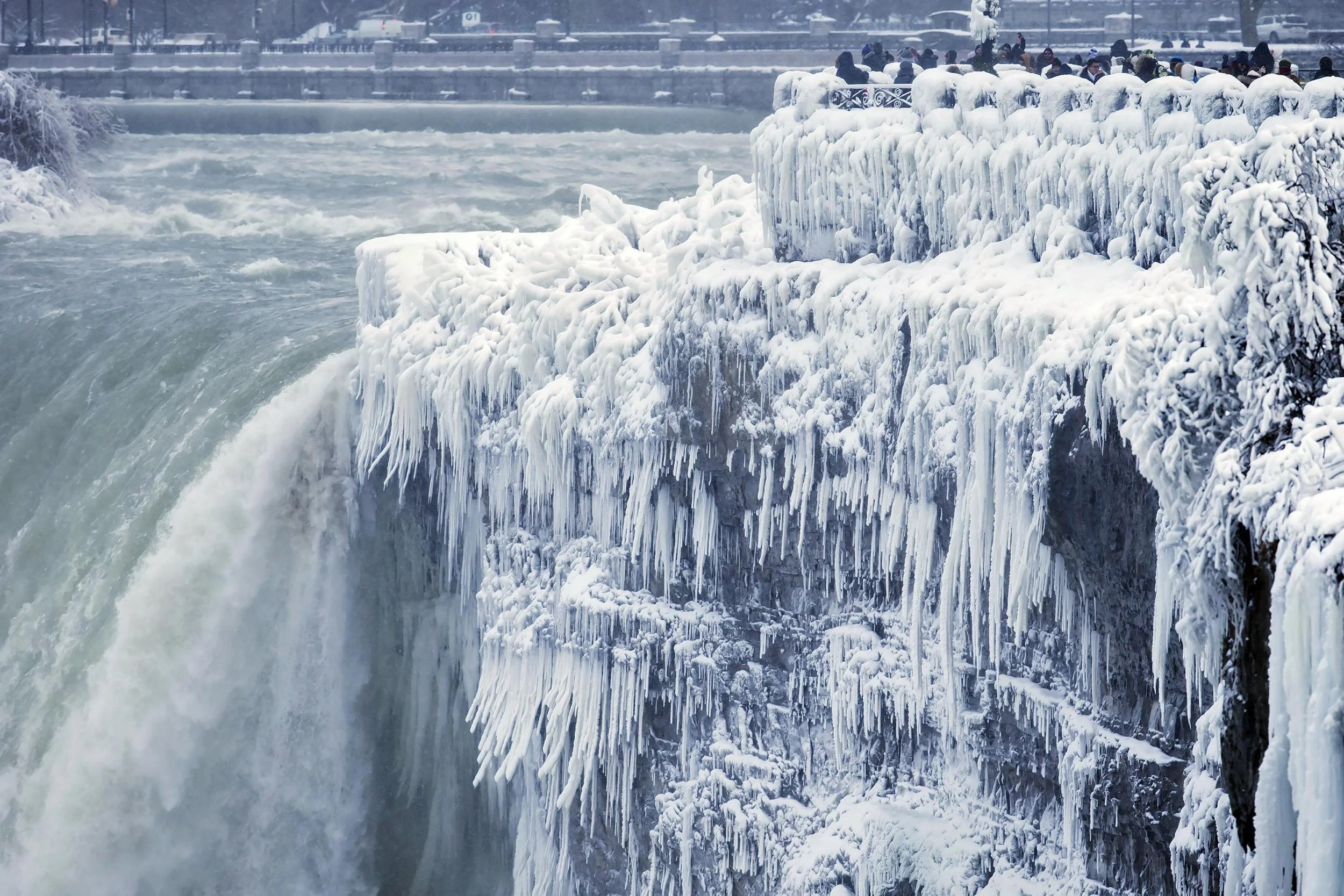 Niagara Falls Is Frozen Over As Icy Weather Grips United States