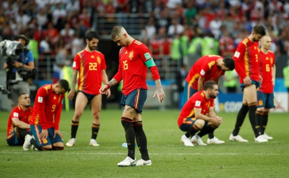 Image result for spain vs russia world cup