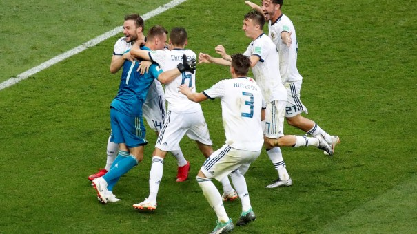 Image result for pic of russia win spain