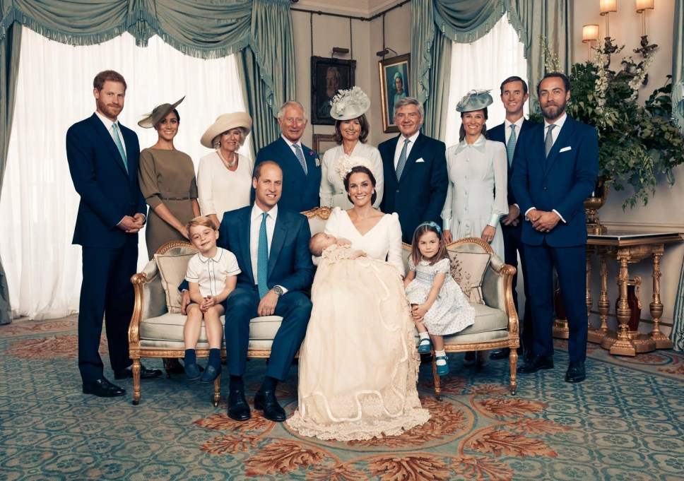 The Duke and Duchess of Cambridge have released this official photograph to mark the christening of Prince Louis