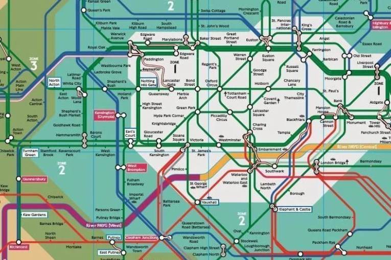 Revealed  The secret London Tube map used by TfL employees   London     Revealed  The secret London Tube map used by TfL employees