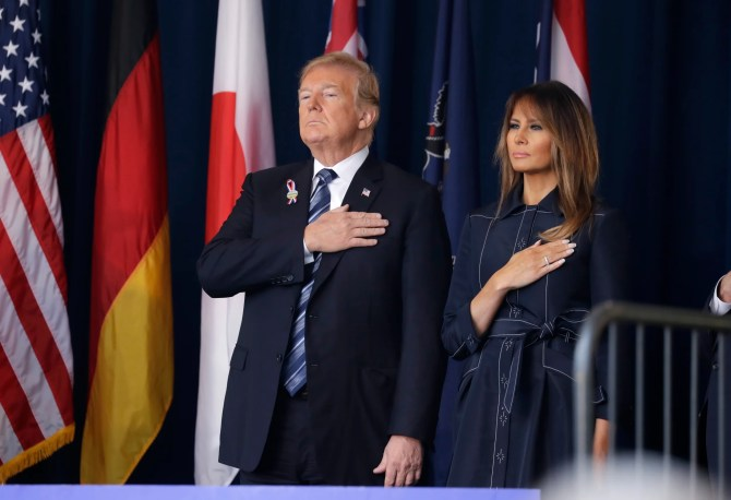 Image result for pre Trump & 1st Lady to attend 911 in PA