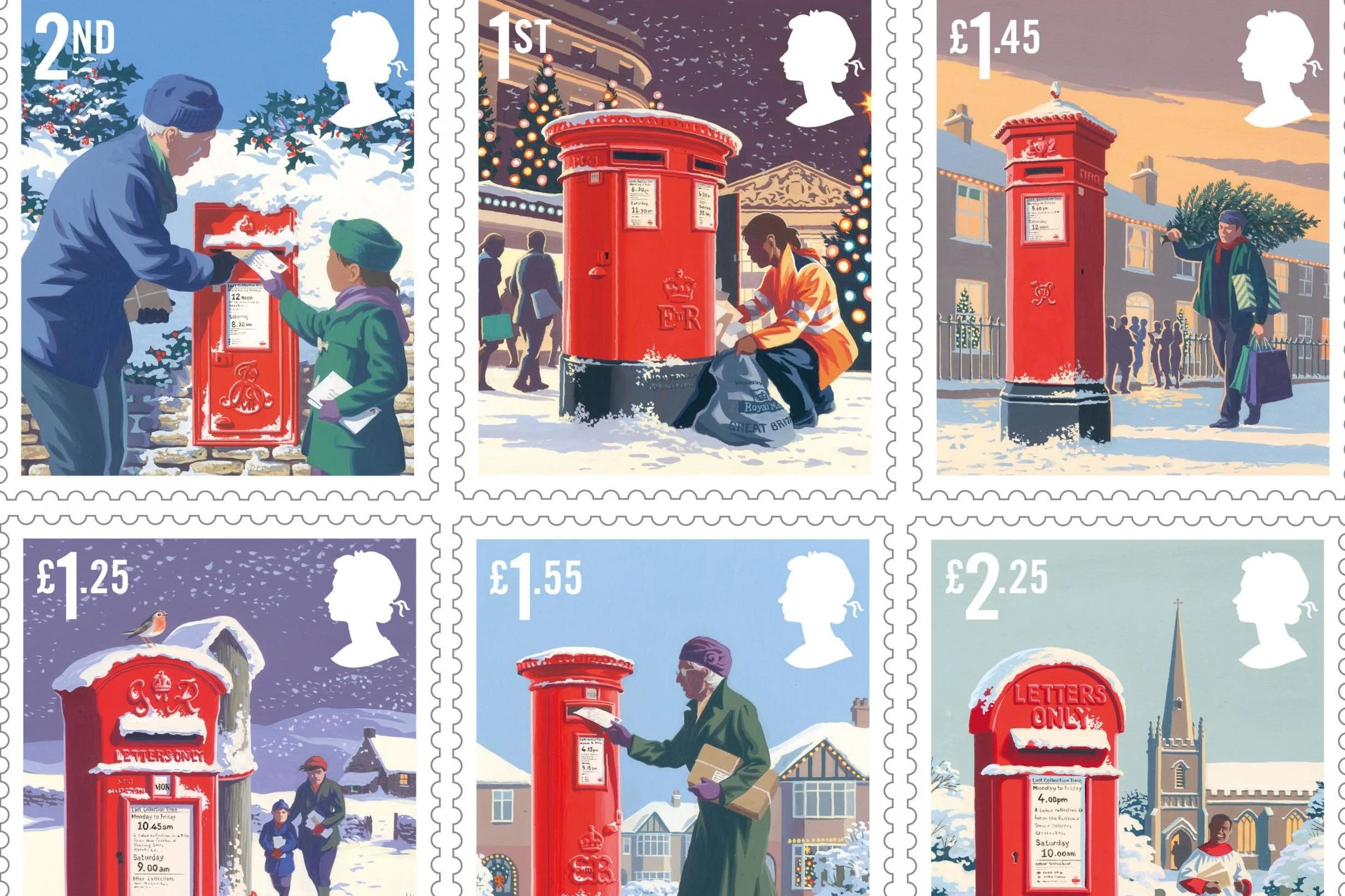 Royal Mail Reveals This Years Christmas Stamps London
