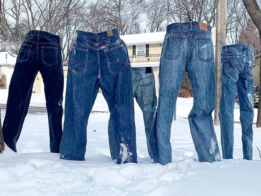 Frozen Pants Challenge Americans Freeze Their Jeans