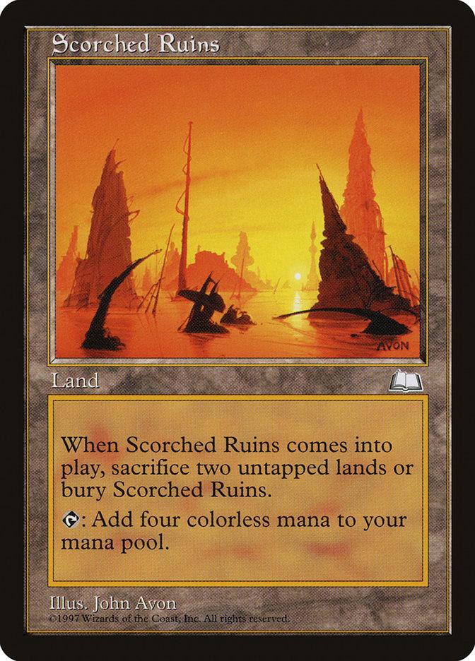 Scorched Ruins Magic Card